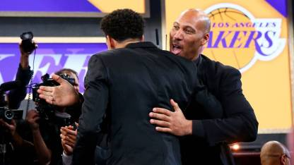 lavar ball at the draft